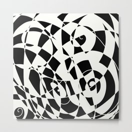 Curves And Contrast Metal Print