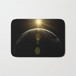 moon lens flare Bath Mat