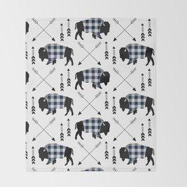 Blue Buffalo Plaid Throw Blanket