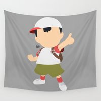 pocket fuel Wall Tapestries featuring Ness(Smash)Fuel by samaran