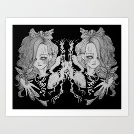 Spades of Gray Art Print