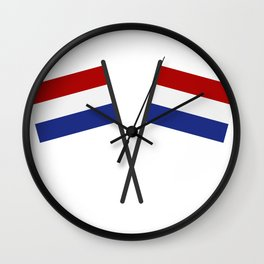 Holland flag Wall Clock