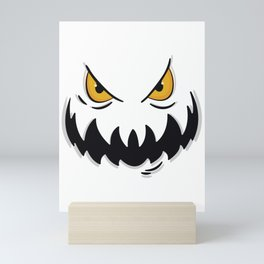 creepy face Mini Art Print
