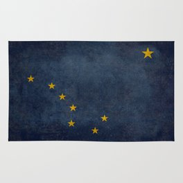 Alaska State Flag, Vintage retro version Rug