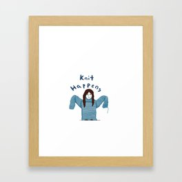 Knit Happens Framed Art Print
