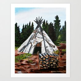 Walking Out Ceremony Teepee Art Print