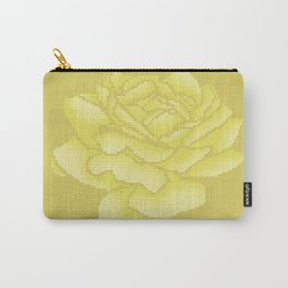 Yellow Rose Pixel Art Carry-All Pouch