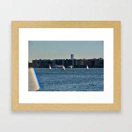 Sailing on the Hudson River Framed Art Print