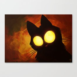 That unkown cat with big bright eyes Canvas Print