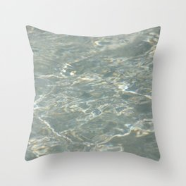 Light reflecting on water Throw Pillow