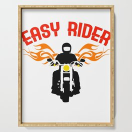 """""""Easy Rider"""" tee design for both cars and motorcycle riders out there! Makes a nice gift too!  Serving Tray"""