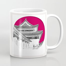 Forbidden City Detail; Study in Crimson Coffee Mug