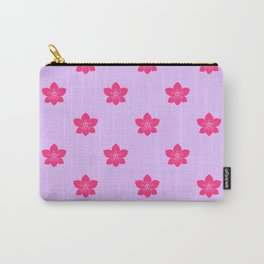 Pink orchid pattern Carry-All Pouch