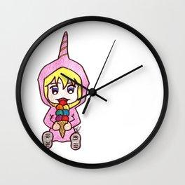 Chibi unicorn Wall Clock