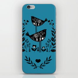 Danish Birds Bring Good Luck And A Good Life iPhone Skin