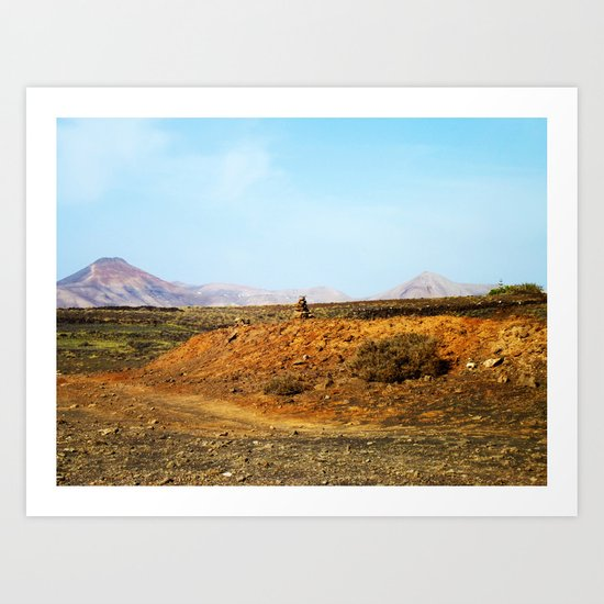 Stones and Mountains Art Print