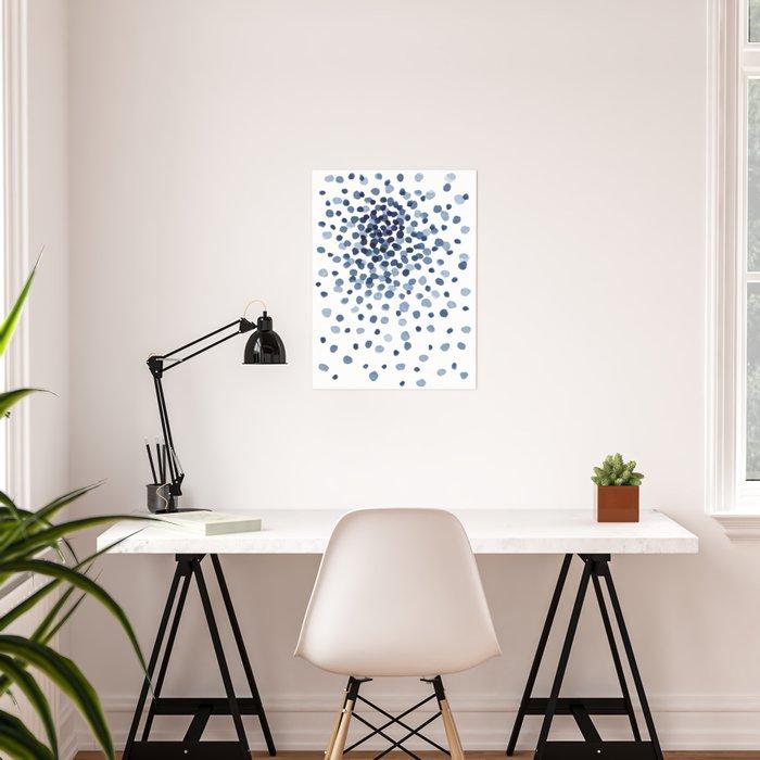 Explosion of Blue Confetti Poster