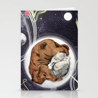 the moon Stationery Cards featuring Moon by Sandra Dieckmann