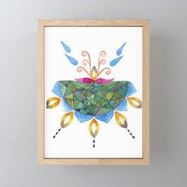 Mandala Flower Framed Mini Art Print