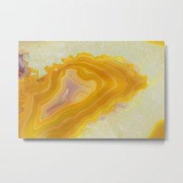 Spilled molten gold agate Metal Print