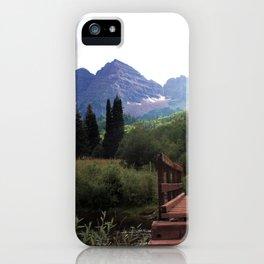 Bridge to Maroon Bells, Colorado iPhone Case