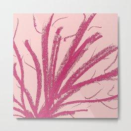Original Minimalism Pink Colored Pencil Stroke Metal Print