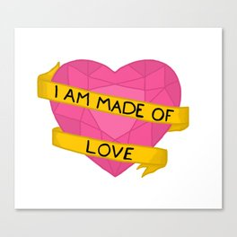 I am made of love crystal heart Canvas Print