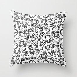 Mandala black 4 Throw Pillow