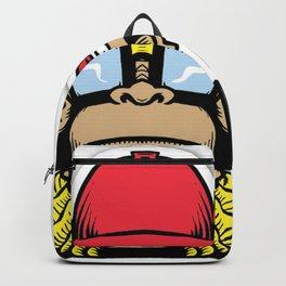 fun monkey sticker stickers new 2018 design cute funny sunglass swag thug love Backpack