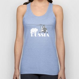 Helicopter Mi-8 and Polar Bear in Russia Unisex Tank Top