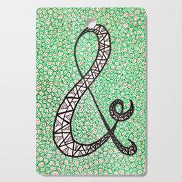 Green Ampersand Cutting Board