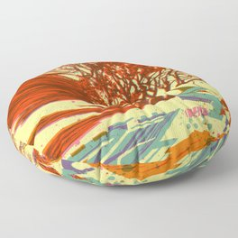 A bird never seen before - Fortuna series Floor Pillow