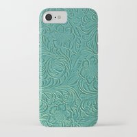 leather iPhone & iPod Cases featuring teal leather by Sylvia Cook Photography