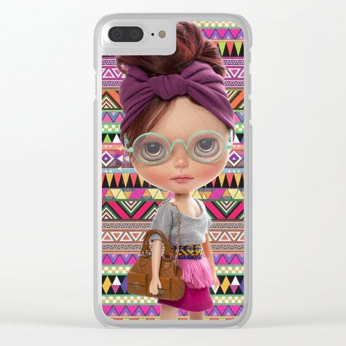 Noa Azteca by Erregiro Clear iPhone Case