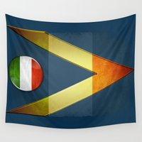 italy Wall Tapestries featuring Italy by ilustrarte