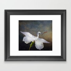 If a heron became a hibiscus Framed Art Print