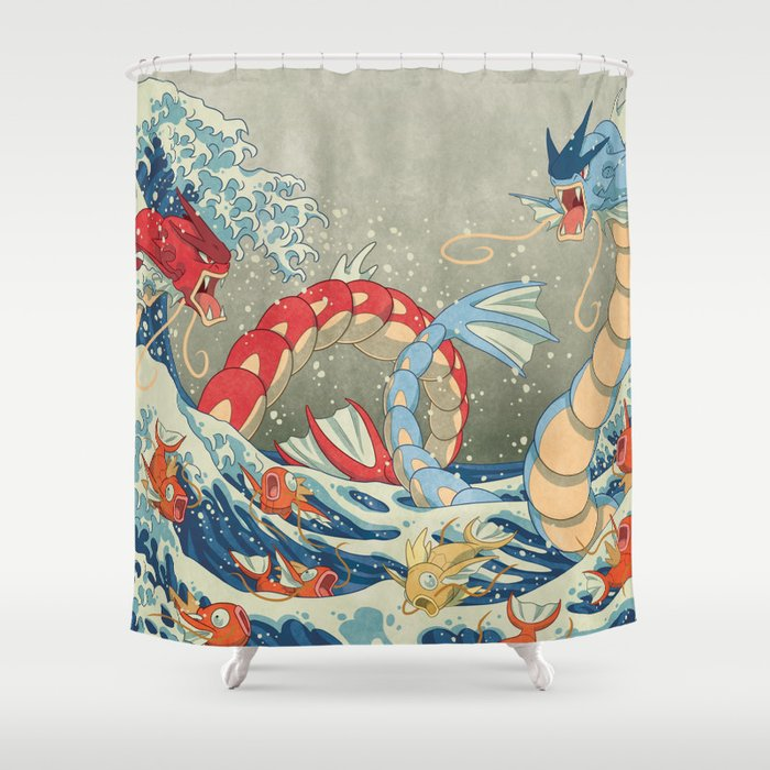 The Great Red Wave II Shower Curtain by zimmay | Society6