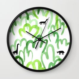 Animals in the forest Wall Clock