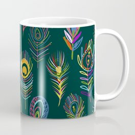 Peacock Feathers Art Coffee Mug