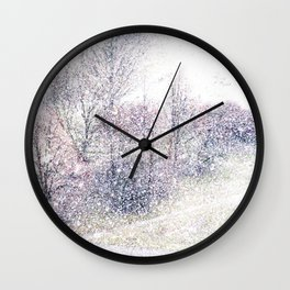 Snow in early fall(2). Wall Clock