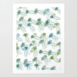 A bunch of daikons Art Print
