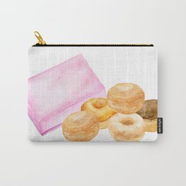Watercolor donuts and gift box Carry-All Pouch