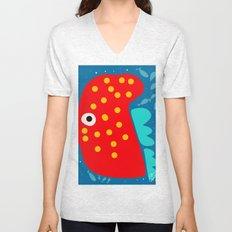Red Fish illustration for kids Unisex V-Neck
