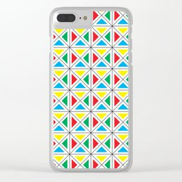 Texture X - Primary colors. Clear iPhone Case