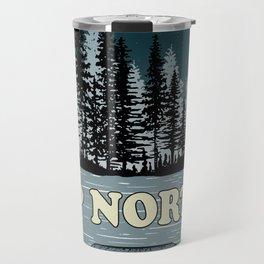 Up North at Night Travel Mug