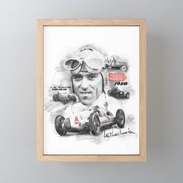 Tazio Nuvolari Framed Mini Art Print