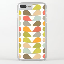 Retro Mid Century Modern Pattern Clear iPhone Case
