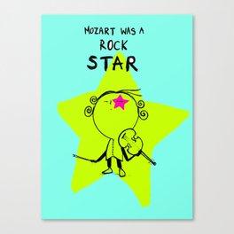 MOZART WAS A ROCK STAR (BLUE) Canvas Print