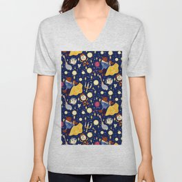 Be Our Guest Pattern Unisex V-Neck