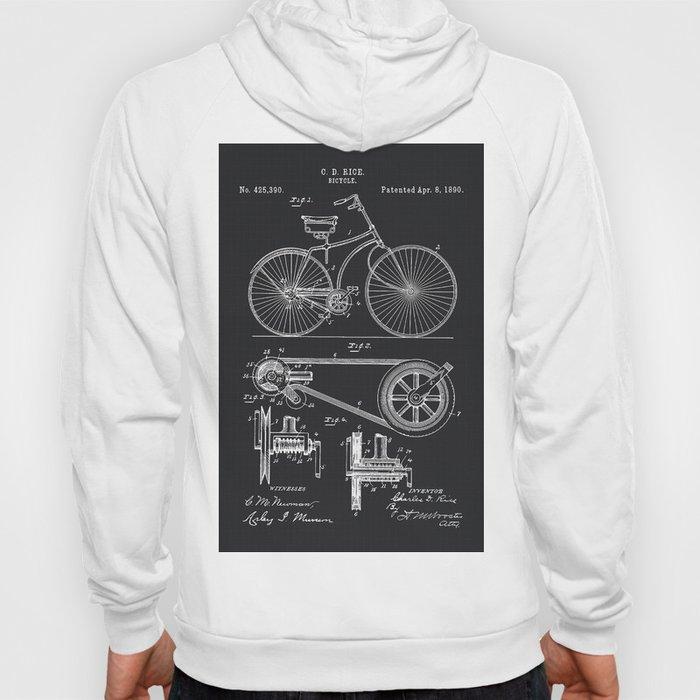 Vintage Bicycle patent illustration 1890 Hoody